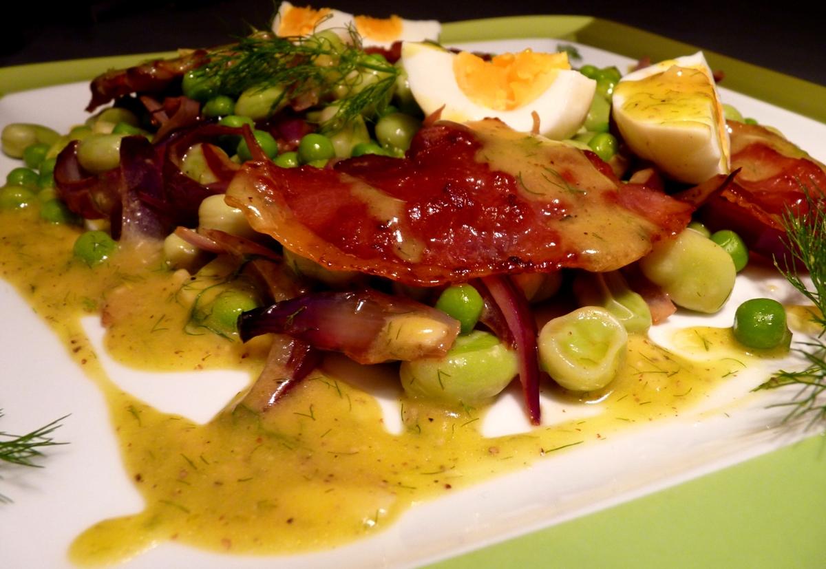 Salada de Ervilhas e Favas com Funcho