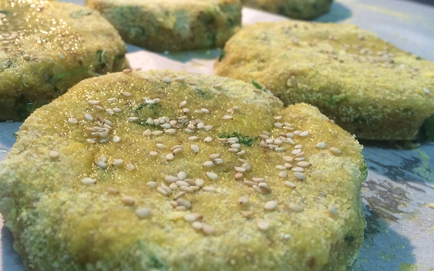 Hambúrgueres de Quinoa, Batata Doce e Mostarda Dijon